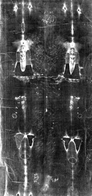 Photo-negative Image of Holy Shroud back