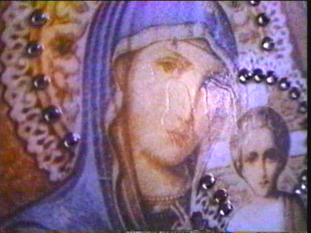Our Lady weeps