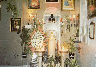 weeping icon shrine
